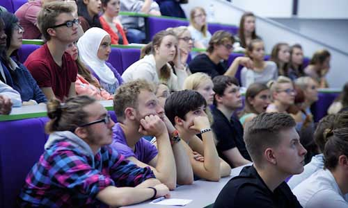 Students in lecture theatre