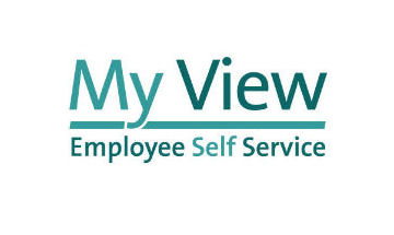 My View logo in blue and green