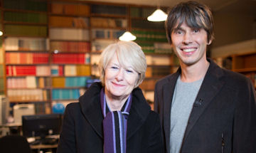 Dame Nancy Rothwell with Professor Brian Cox