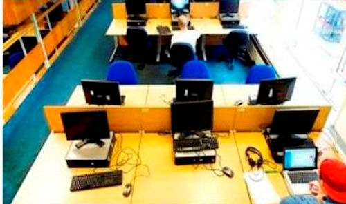 Rows of desks image